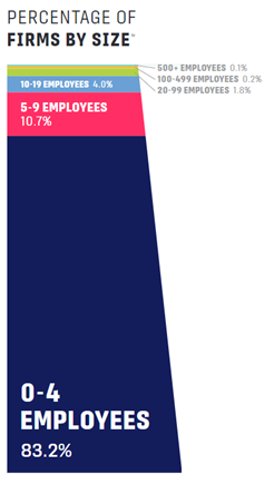 Percentage Of Firms by Size